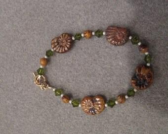 HANDMADE SNAIL BEADED Bracelet