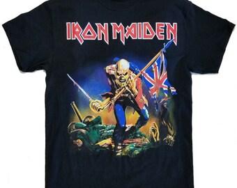 IRON MAIDEN Trooper Black T shirt S-XL