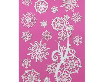 Crystal Snowflakes Cake Lace Mat Mold
