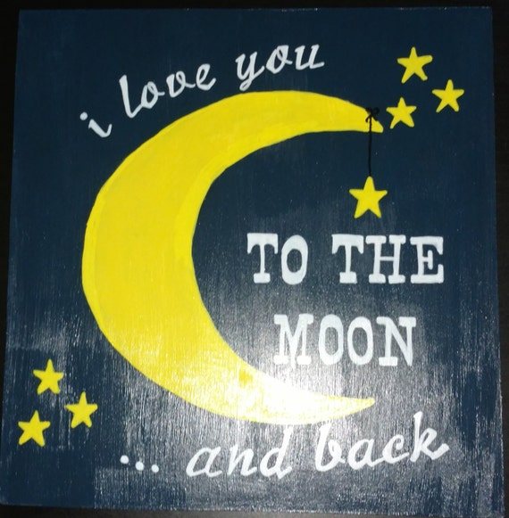 I Love You To The Moon And Back Wall Art By