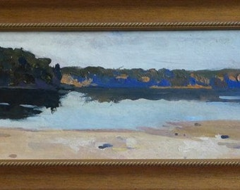 Oil painting, Gift idea, Something for her, Something for him, Oil on board, Landscape,River painting,  Wall decor,Original painting