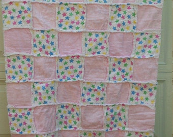 Pink flannel baby blanket