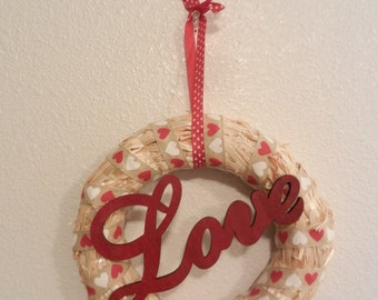 Love straw wreath