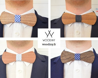 NEW - RIBBON to customize your Wooden Bow tie - Made by Woodiny - Gift for men, Groomsmen gift, Birthday gift, Groom Gift