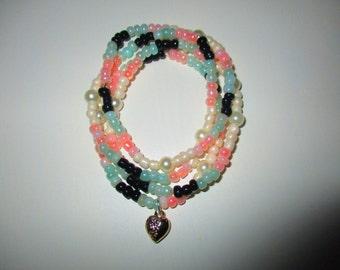 4 Piece Heart Bracelet