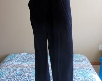 My Black Flower Pants