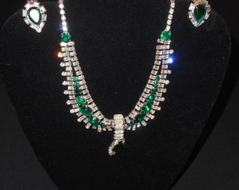 Vintage Hobe Necklace,Bracelet, Earrings Set