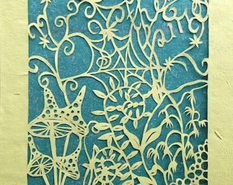 "Hand cut A4 Papercut artwork ""Away with the Fairies"""