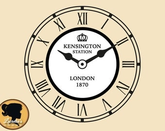 Antique Vintage England London Clock SVG Cut Files for Vinyl Cutters, Screen Printing, Silhouette, Die Cut Machines, & More
