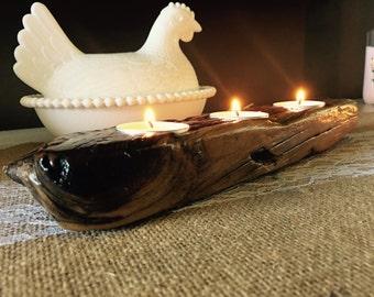 Handmade Driftwood Candleholder