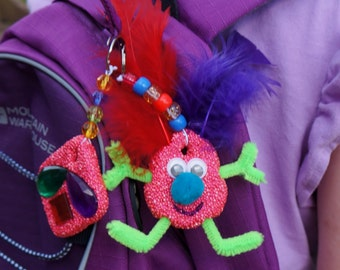 Mini Crazy Keyrings Kit - Make Your Own Keyring, Children's Craft, Bag Charm, Kid's Gift, Party Favour, Easy Craft, Foam Clay Craft