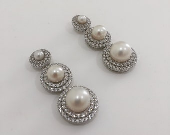 Any Piccin Delicate Romance Bridal Pearl Earrings