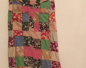Late 60s Patchwork Hippie Maxi Skirt