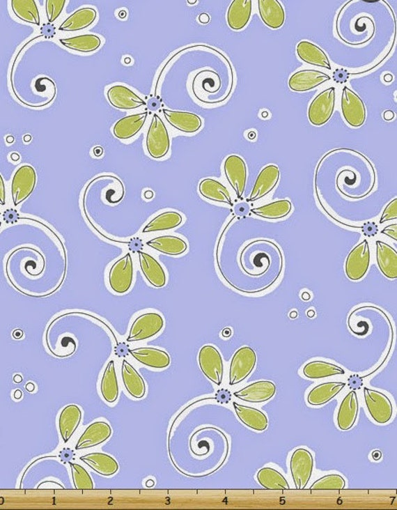 Susybee fabric nursery fabric whimsical floral purple 100 for Floral nursery fabric
