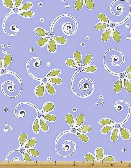 Susybee fabric nursery fabric whimsical floral purple for Floral nursery fabric
