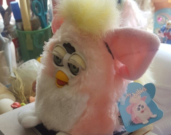 90's Baby Furby Pink and Yellow