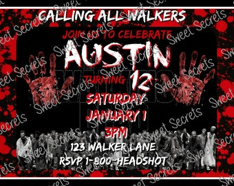The Walking Dead Invitations