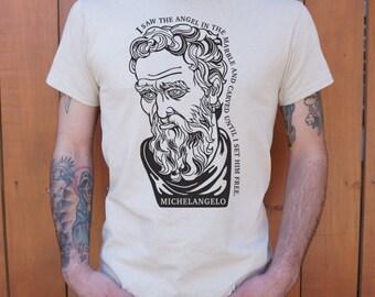 T-shirt Michelangelo Quote