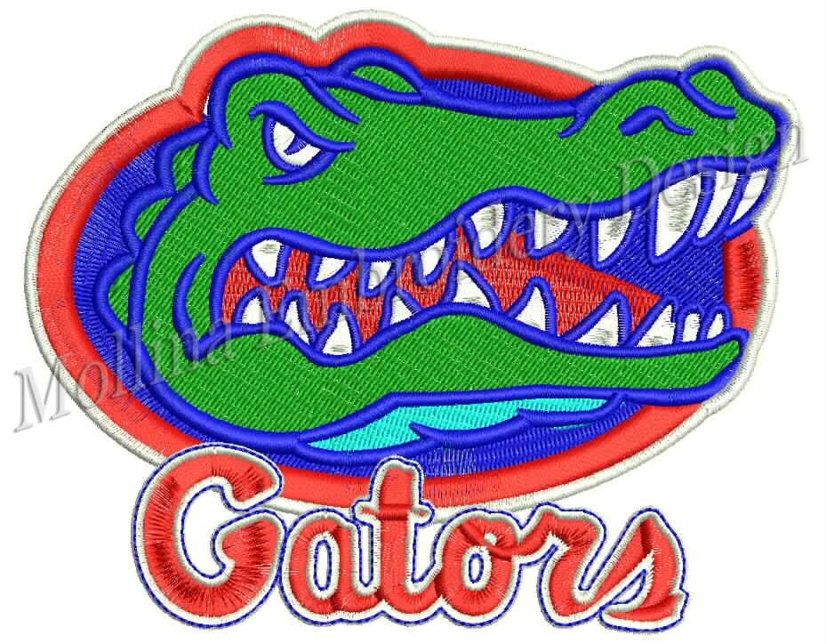 Florida Gators Logo Machine Embroidery Design