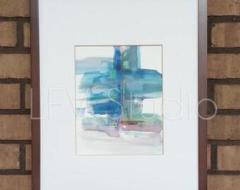 Original Abstract Watercolor & Acrylic Painting Multi-color Series #006 - LFV Studio
