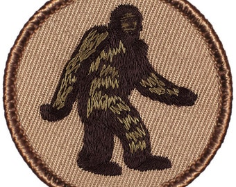 "2"" Diameter Embroidered Bigfoot / Sasquatch Patch (173)"