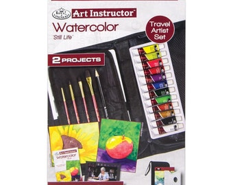 Art Instructor-Watercolor Paint Kit - 2 Projects, 21 Pc