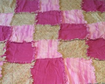Lovely Pink Rag Quilt