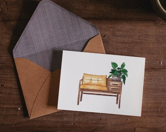 Bench Seat Greeting Card