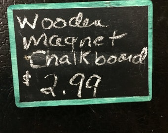 Wooden Magnet Chalkboard: small size