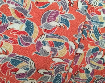 Vintage Japanese Kimono / Komon / Mandarin Duck / 060A0816-07