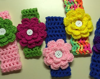 Hand crocheted headbands