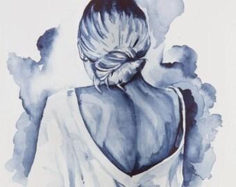 Day Dreamer - Watercolour - Print
