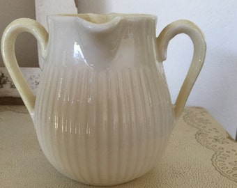 BELLEEK Double handled, Double spouted pitcher