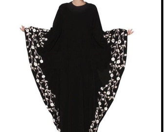Embroidery DUBAI caftan maxi muslim abaya L
