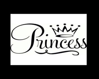 Princess with a crown wall/auto Decal