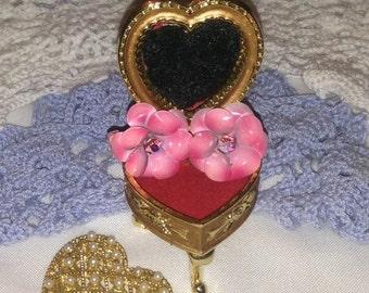 On Sale Vintage Coro Pink Flower Clip Earrings