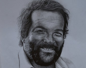 Bud Spencer portrait drawing