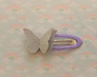 Felt butterfly hair clip
