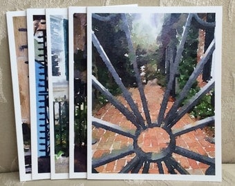 LowCountryNoteCards Gates of Charleston #4 Watercolor