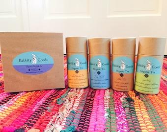 Wellness Organic Tea Gift Set, Tea Gift, Handmade Gift, Herbal Tea, Loose Leaf Tea, Holiday Gift, Birthday Present, Special Occasion Gift