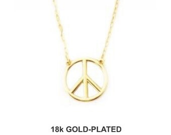 Peace Necklace - 18k Gold Plated