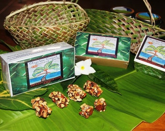 Palauan Made Chocolate Covered Coconut Candy with Almonds
