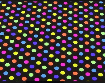 Spandex Lycra By The Yard - Multi Color Polka Dots