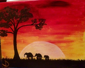 African Safari ORIGINAL ACRYLIC PAINTING