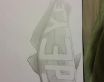 Custom drawn art