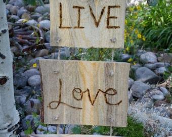 Rustic Wood Sign, LIVE LOVE LAUGH