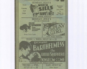 1910's Powhatan Theatre and Dome Very Rare Promo Ad Flyer