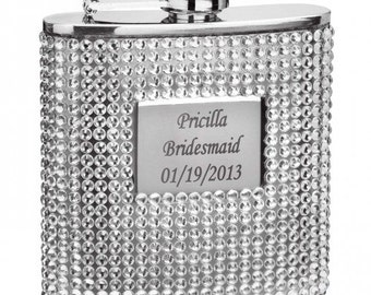 Personalized Bling Flask, personalized drinkware