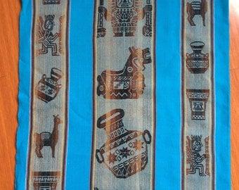 Peru textile - wall hanginng - table cloth - shawl - Peruvian textile art