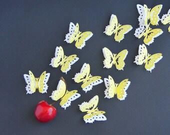 10 large confetti flight of butterflies